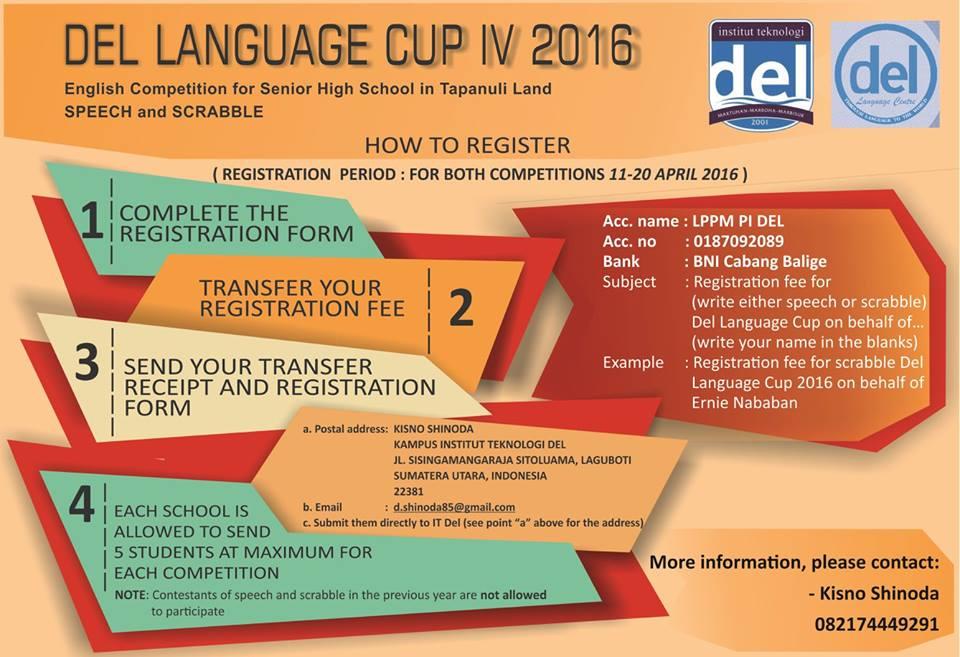 DEL Language CUP IV 2016
