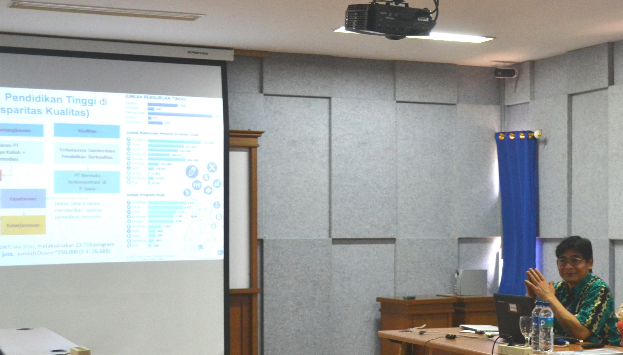 Sharing Session Prof. Intan Ahmad, PhD (Dirjen Pembelajaran dan Kemahasiswaan KEMENRISTEK DIKTI) bersama Dosen-dosen IT Del