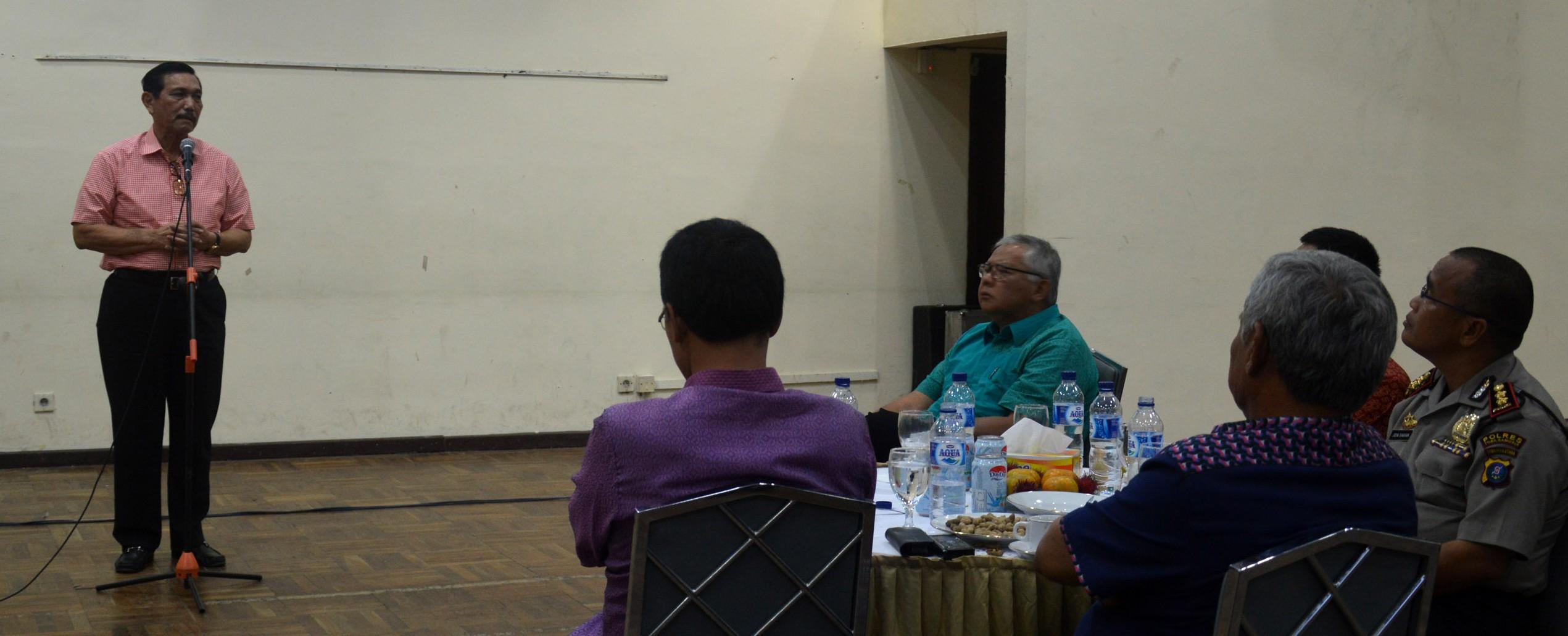 Acara Ramah Tamah Jend. TNI (Purn) Luhut B. Pandjaitan di IT Del
