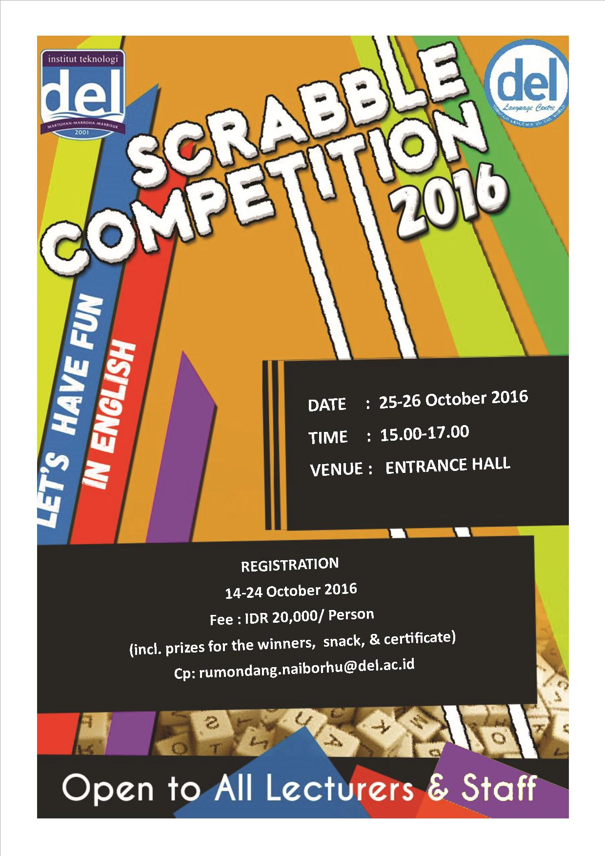 DEL LANGUAGE CREATIVE WRITING COMPETITION  (CWC) I 2016