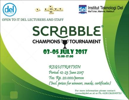 IT Del Lecturers & Staff Scrabble Competition I