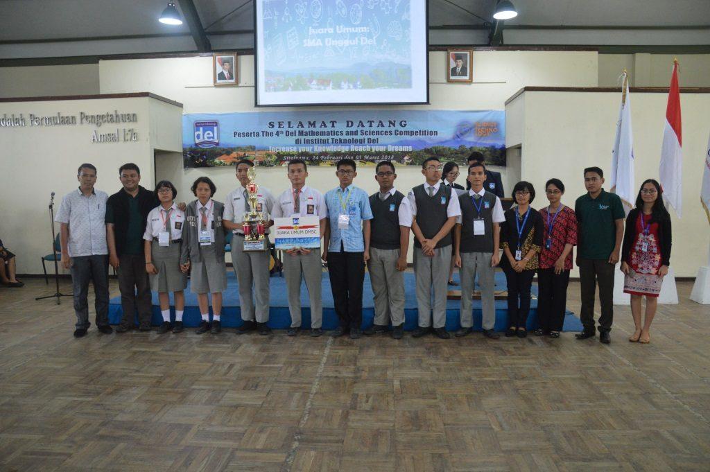 Pengumuman Pemenang The 4th DMSC 2018 se 4 Kabupaten (Toba Samosir, Tapanuli Utara, Humbang Hasundutan dan Kabupaten Samosir)