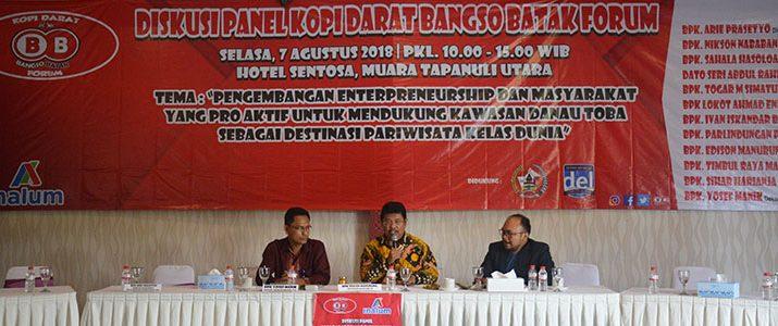 Diskusi Panel Kopi Darat Bangso Batak – Masyarakat Ekonomi Danau Toba-