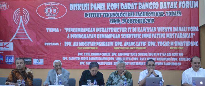 """Diskusi Panel Bangso Batak """" Pengembangan Infrastruktur IT Di Kawasan Wisata Danau Toba & Peningkatan Kemampuan Scientific Innovative Masyarakat"""" di Kampus IT Del"""