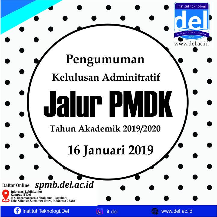 Pengumuman Panggilan Interview Jalur PMDK 2019 IT Del
