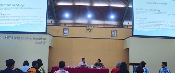 Kuliah Umum dan Workshop oleh Bapak Martinus Abednego