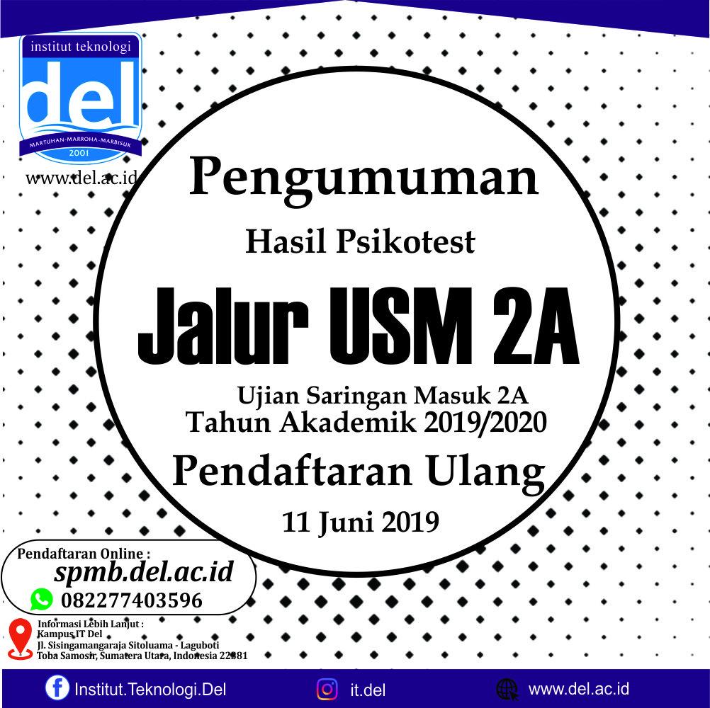 PENGUMUMAN HASIL PSIKOTEST JALUR USM 2A