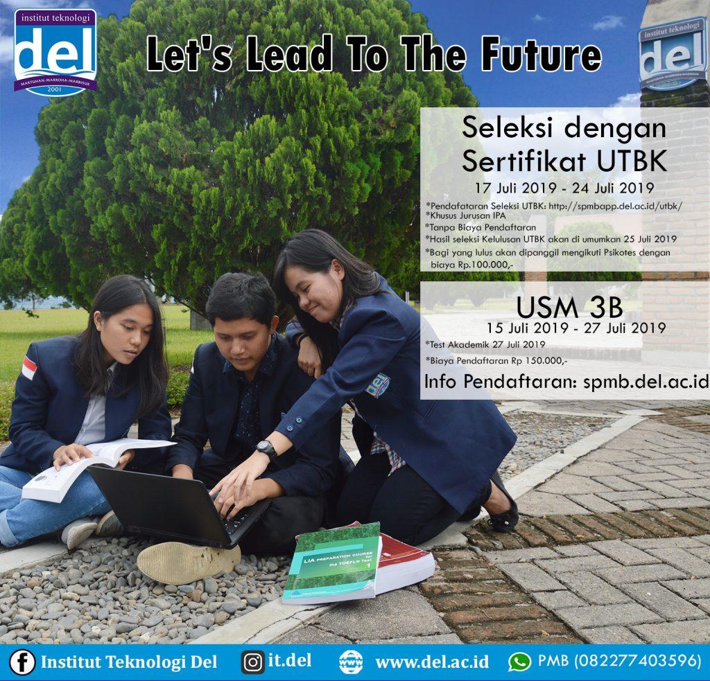 Pendaftaran Mahasiswa Baru Jalur USM 3B dan Jalur Seleksi dengan Sertifikat UTBK