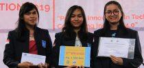 Mahasiswa Prodi S1 Manajemen Rekayasa yaitu Sarah Ratna Sari Panjaitan, Oktaviani Panjaitan, Maria Elfrida Sibuea dan team Atas Juara ke 2 Pada Lomba 9TH Product Design Competition Region: SUMUT & ACEH