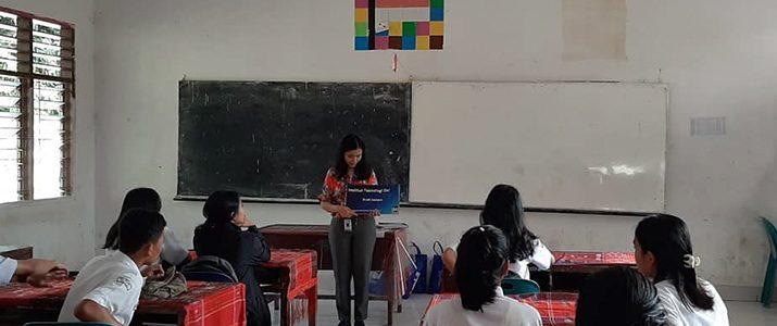 Roadshow Institut Teknologi Del (IT Del) 2019/2020 ke beberapa sekolah Samosir