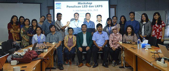 Workshop Penulisan Laporan Kinerja Program Studi(LKPS) dan Laporan Evaluasi Diri (LED) di Institut Teknologi Del