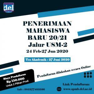 Periode USM 2 dibuka hingga 27 Juni, mari bergabung bersama kami di Institut Teknologi Del.