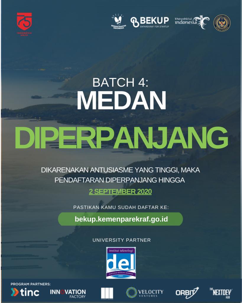 Pendaftaran BEKUP 2020 Batch 4 – Medan Diperpanjang!