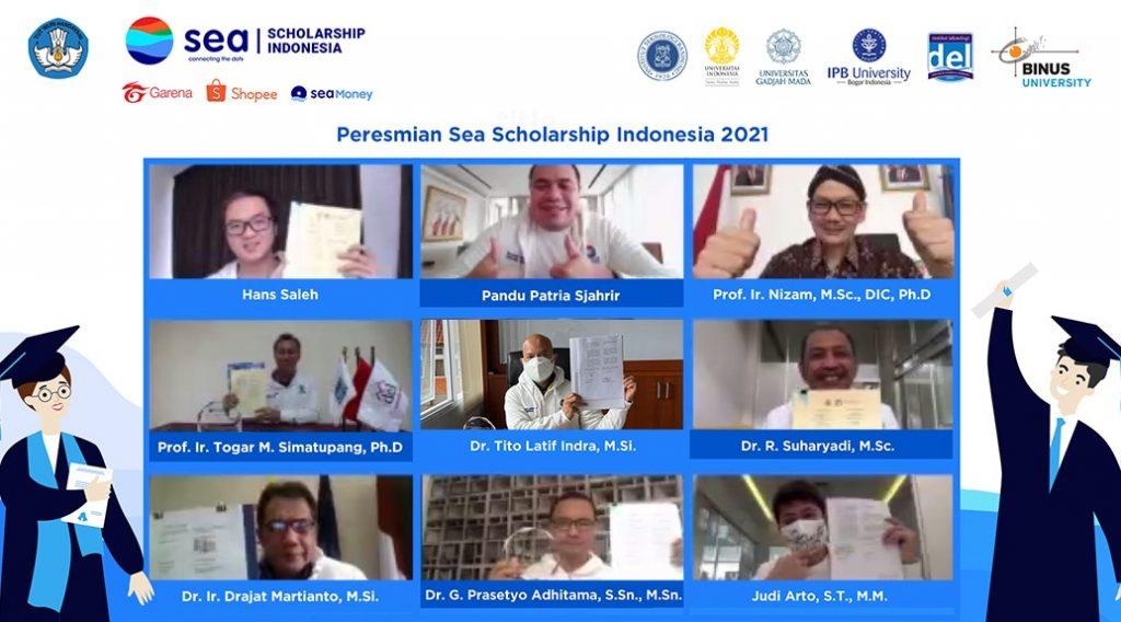 Peluncuran Beasiswa Sea Indonesia 2021 di UI, ITB, IPB, UGM, Binus dan IT Del