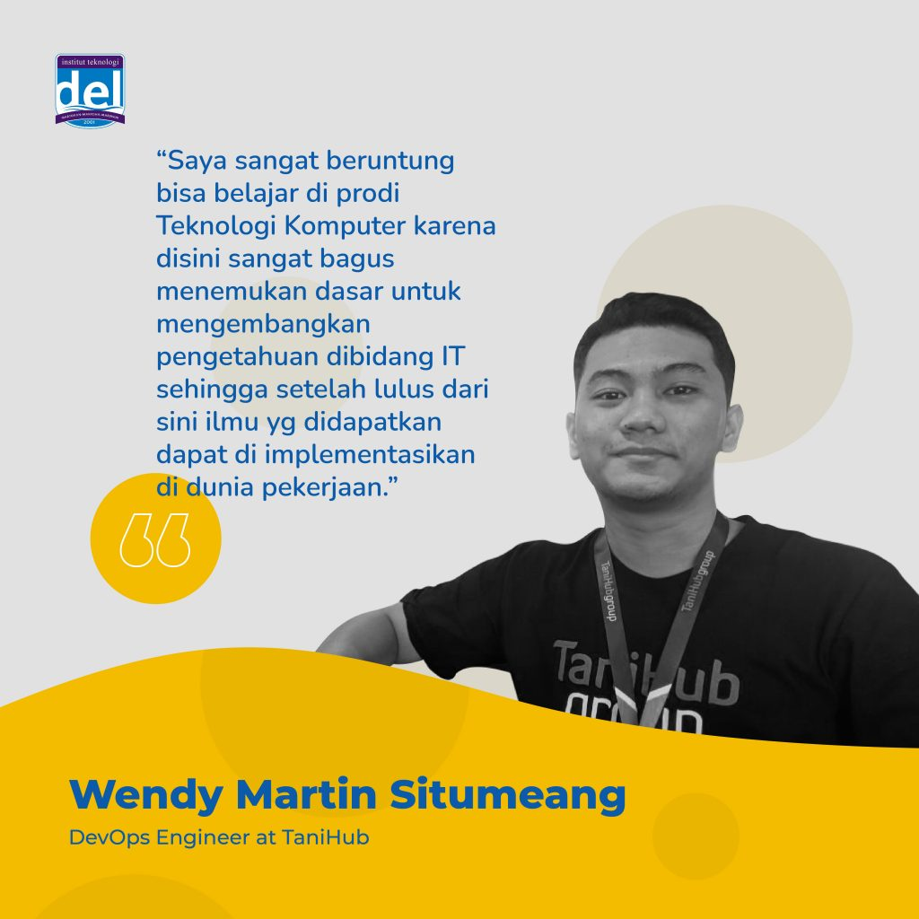 Testimoni Alumni D3 Tenologi Komputer Institut Teknologi Del