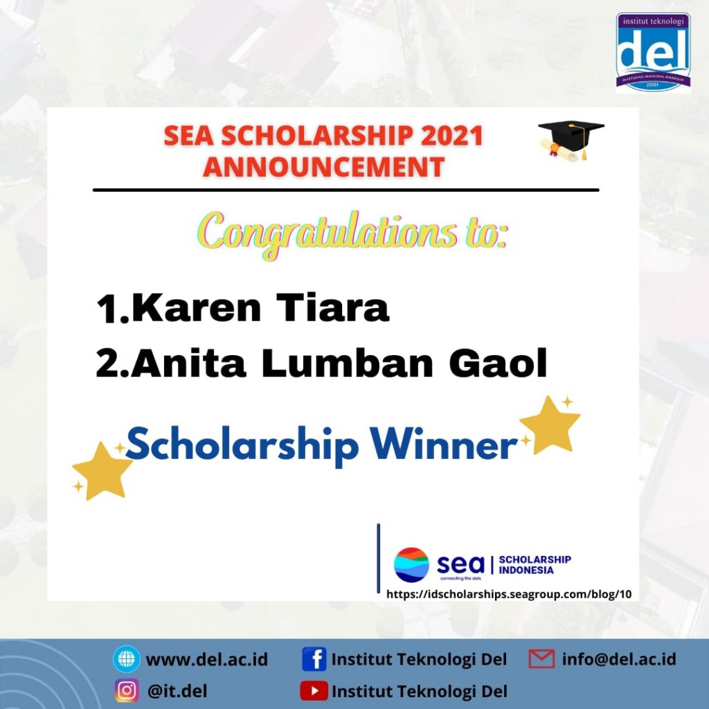 Mahasiswa Institut Teknologi Del Berhasil Memenangkan Sea Scholarship Indonesia 2021