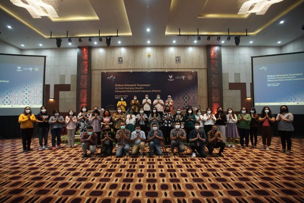 IT Del Sebagai Perwakilan Akademisi dalam Kegiatan Diskusi Kelompok Terpumpun Uji Petik Penilaian Mandiri Kabupaten/ Kota Kreatif Indonesia (PMK3I)