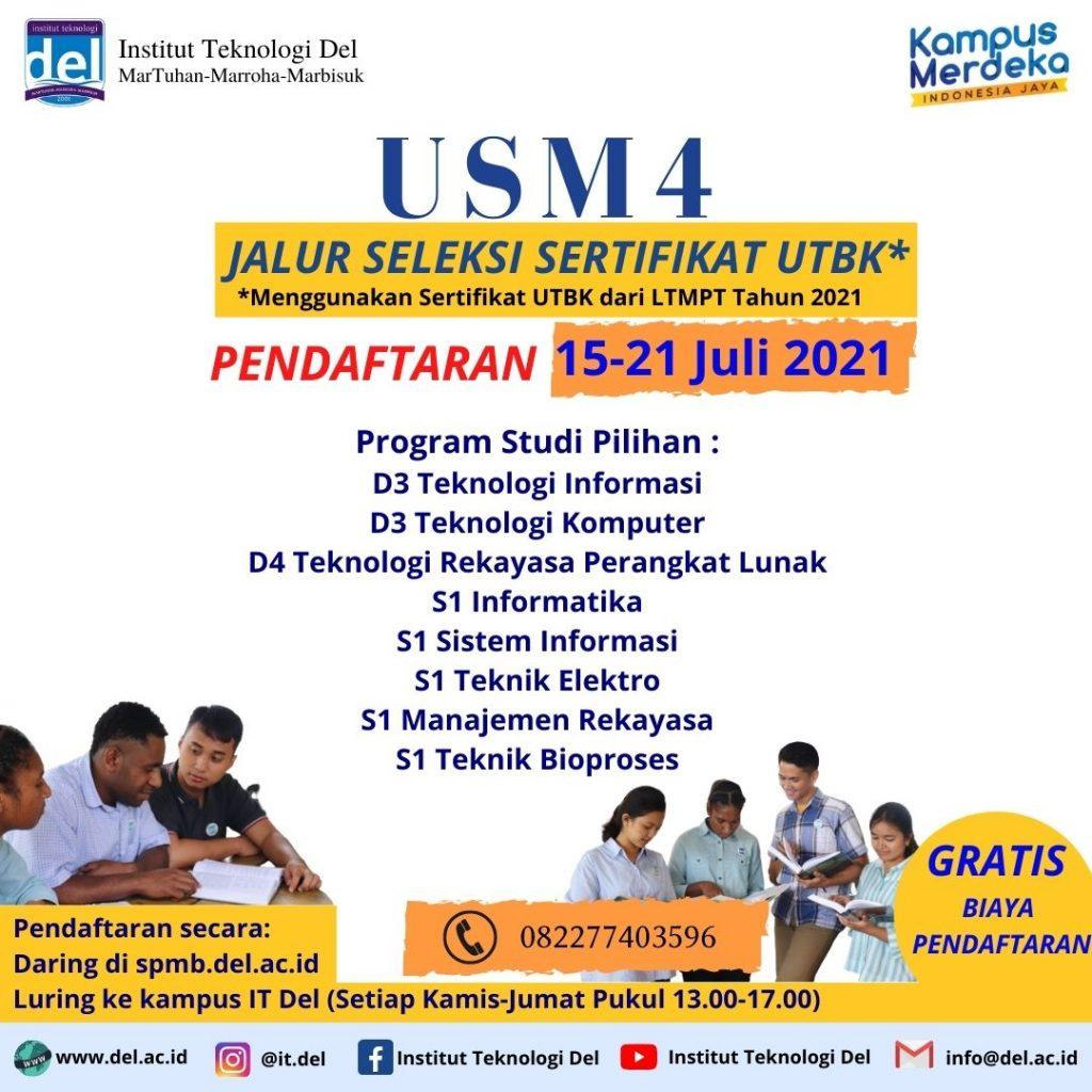 Informasi PMB USM 4 Jalur Seleksi Sertifikat Ujian Tulis Berbasis Komputer (Sertifikat UTBK) 2021/2022 & Jadwal Pelaksanaan Kegiatan