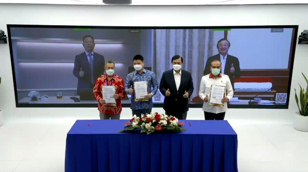 Penandatanganan MoU antara Huawei Indonesia, Badan Siber dan Sandi Negara (BSSN), dan Institut Teknologi Del